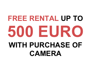 Up To 500 Euro Free Rental with Purchase of Camera