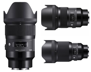 Sigma DG HSM Art Series E-Mount 35/50/85mm 1.4 Lens Set Bundle