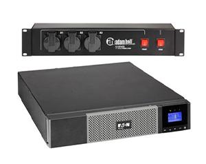 Eaton 5PX UPS en Adam Hall power strip set